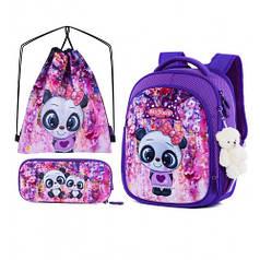 Рюкзак школьный для девочек SkyName R4-401 Full Set