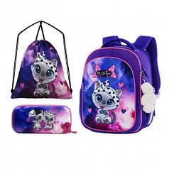 Рюкзак школьный для девочек SkyName R4-402 Full Set