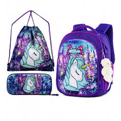 Рюкзак школьный для девочек SkyName R4-404 Full Set
