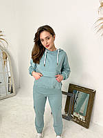 Женский костюм карго Rocamoon брюки + худи ментоловый