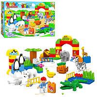 Конструктор для малышей зоопарк на 68 детали, большие блоки JDLT 5092