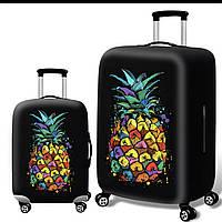 Чехол на чемодан с принтом ананас L большой