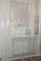 Тюль жакардовая с вышитым низом., фото 1