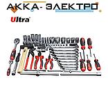 """Набір інструментів, ключів, насадок торцевих і біти 1/4"""", 1/2"""" 80шт CrV ULTRA (6001112), фото 2"""