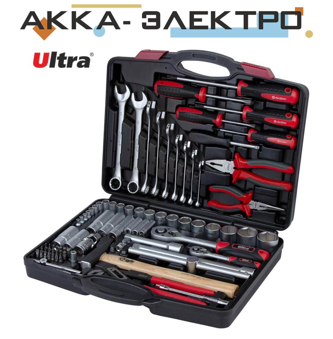 """Набір інструментів, ключів, насадок торцевих і біти 1/4"""", 1/2"""" 80шт CrV ULTRA (6001112)"""