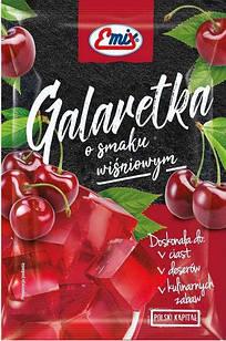 Желе (галаретка) со вкусом вишни Galaretka Emix, в пакетиках 79г (Польша), Оригинал