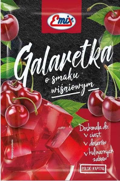 Желе (галаретка) зі смаком вишні Galaretka Emix, в пакетиках 79г (Польща), Оригінал