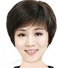 Жіноча перука боб темно-коричневий SG-02
