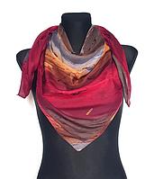 Легкий платок Eripek Кейси 95*95 см красный