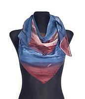 Легкий платок Eripek Кейси 95*95 см голубой/лиловый