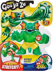 Goo Jit Zu Dino Reptaur Стретч-антистрес Рептаур трицератопс ігрова фігурка (41047)