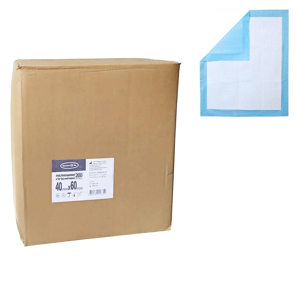 Пеленки гигиенические 60х40 см Белоснежка 200 шт. (4820180243754)