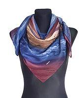 Легкий платок Eripek Кейси 95*95 см синий/фиолетовый