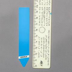 Табличка для маркировки растений 1.8x10 см, голубая упаковка 100 шт