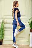 """Комбінезон жіночий """"mom's"""" джинсовий (синій, р. 25-28), фото 4"""