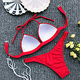 Женский раздельный купальник  красный, хаки, белый, фиолетово голубой, фото 7