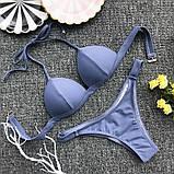 Женский раздельный купальник  красный, хаки, белый, фиолетово голубой, фото 8