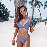 Женский раздельный купальник  красный, хаки, белый, фиолетово голубой, фото 9