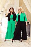 Жіночий костюм двійка комбінезон + болеро тканину льон розмір: 50-52, 54-56, 58-60, фото 5