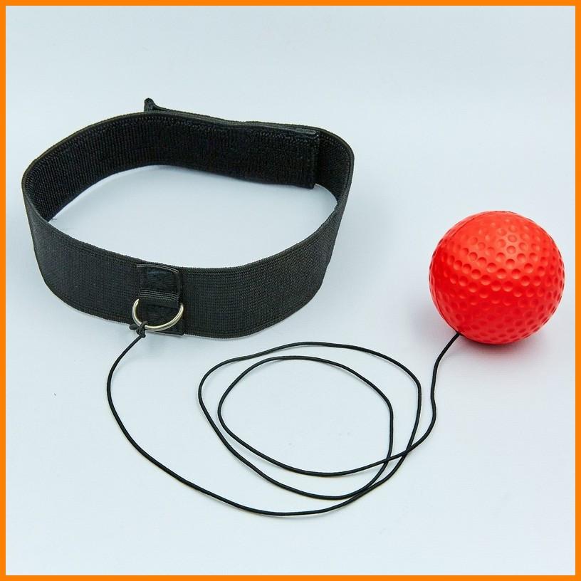 Боксерський м'яч для тренувань, пов'язка на голову, тренажер для боксу Boxing Reflex Ball