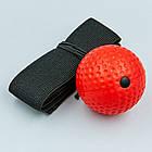 Боксерський м'яч для тренувань, пов'язка на голову, тренажер для боксу Boxing Reflex Ball, фото 5