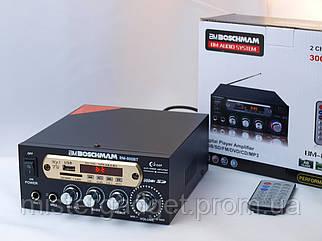 Підсилювач BM AUDIO 800BT FM USB 2x300W Караоке і Блютуз