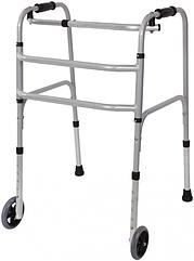 Ходунки складные шагающие, металлические, регулирующие по высоте на колесах - Ersamed ERS-102T