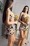 Купальник тройка - плавки, топ и юбка из сеточки, фото 3