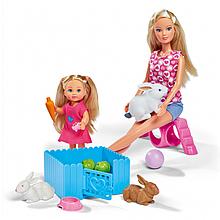 Лялька Steffi Штеффі та Еві з кроликами Sіmba
