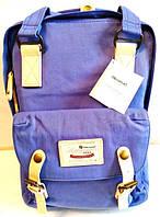 Стильная универсальная сумка рюкзак Himawari 188-L Фиолетовая для покупок, для мам, студентам, школьникам, фото 1