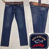 Качественные мужские джинсы Paul & Shark с ремнем.В наличии размеры 30.31.32.33.34.36.38