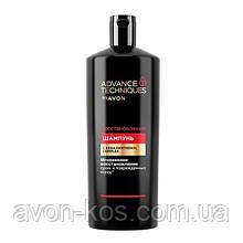 """Шампунь для тьмяних і виснажених волосся """"Сила кератину - Відновлення"""" Advance Techniques, 700 мл"""