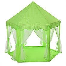"""Детская палатка """"Пирамида"""" Bambi M 6113 140х140х135 см (Зеленый)"""