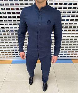 Мужской льняной костюм. Приятный к телу материал. РАЗМЕРЫ: 48-58.