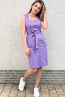Женское летнее платье котон стрейч темно-синий джинс оливка лаванда фреза 42 44 46 48 50 52