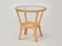 Кофейный столик Келек CRUZO натуральный ротанг медовый kl0002, КОД: 1925273