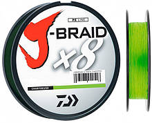 Шнур рыболовный Daiwa J-Braid X8 0.10 мм - 150 м chartreuse, КОД: 2452641