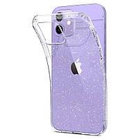Чехол с блестками Spigen Liquid Crystal Glitter для iPhone 12 Pro/ 12
