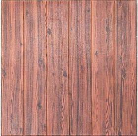 3D панель, обои, Самоклеящаяся, Sticker Wall, 70 x 70 x 0,7 см, Коричневое дерево SKL33-159356