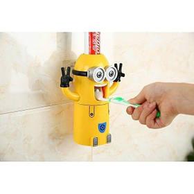 Автоматический дозатор для зубной пасты с держателем для щеток Миньон SKL11-278556