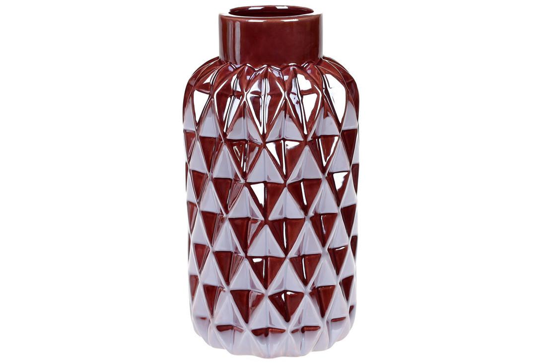 Ваза керамічна, 22,5 см, перлова винна SKL11-249945