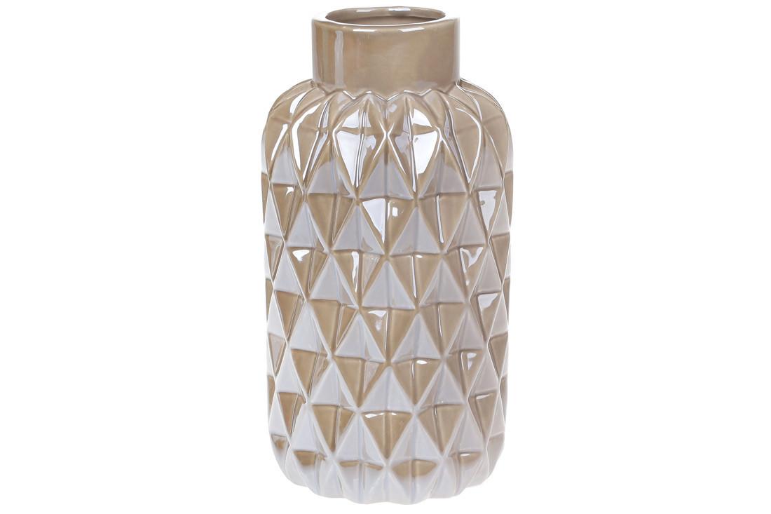 Ваза керамическая, 22,5 см, жемчужная серая SKL11-249934