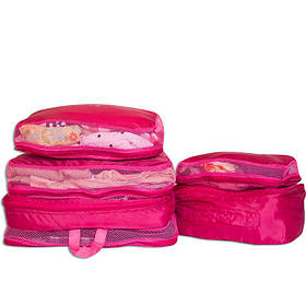 Дорожній органайзер, сумочки у валізу 5 шт Organize рожевий C002 SKL34-176293