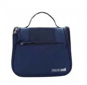 Дорожній підвісний органайзер для косметики Travel bag Blue SKL32-152805