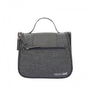 Дорожній підвісний органайзер для косметики Travel bag Grey SKL32-152804