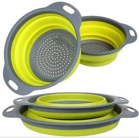 Друшляк силіконовий складаний великий маленький Collapsible filter baskets SKL11-276426