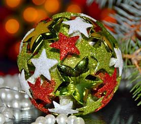 Ялинкова іграшка куля Зірочки 2 3D SKL11-209595
