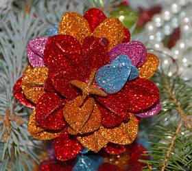 Елочная игрушка шар Цветочек 3D SKL11-209598