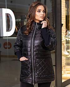 Жіноча демісезонна куртка чорна SKL11-282994