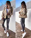 Жіноча джинсова куртка бежева SKL11-289874, фото 3